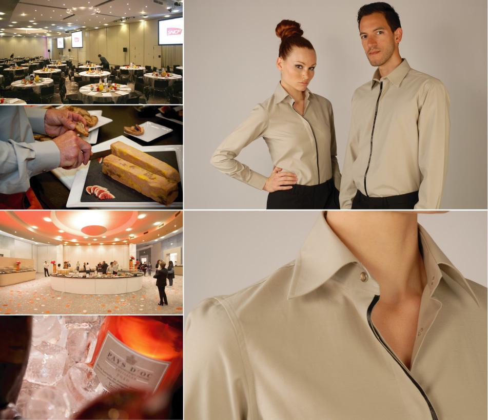 Projet chemises personnalisées pour le service