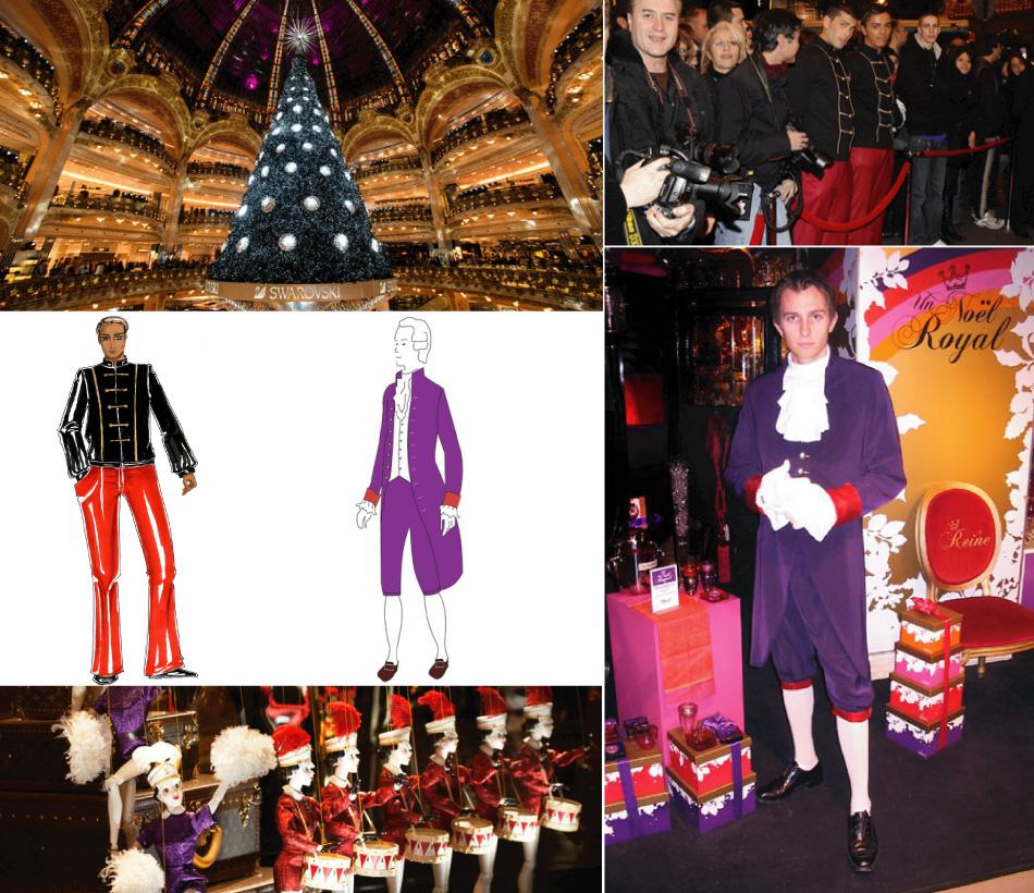 Projet costumes évènementiels Galeries Lafayette